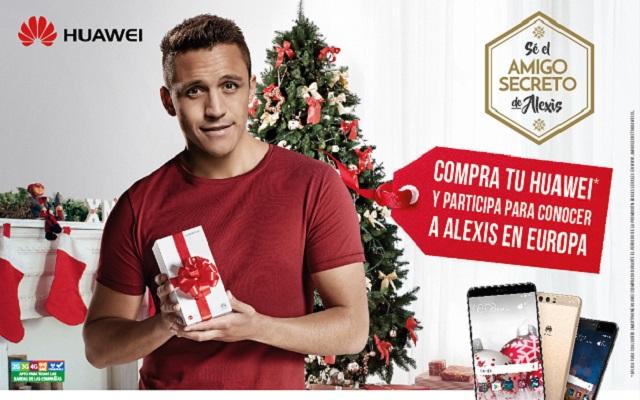Huawei inicia campaña navideña 2017 junto a Alexis Sánchez