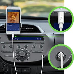 854fcf9d7ee Disponible en longitudes de 0,9 y 1,8 metros para una comodidad máxima. El  cable de audio de 3.5mm es el complemento perfecto para usar en la casa o en  el ...
